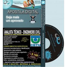 Apostila CBTU - Analista Técnico - ENGENHEIRO CIVIL - Teoria + 6.100 Exercícios - Concurso 2014