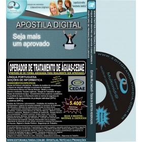 Apostila  CEDAE - Operador de Tratamento de Águas - Teoria + 5.400 Exercícios - Concurso 2012