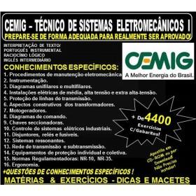 Apostila CEMIG - TÉCNICO de SISTEMAS ELETROMECÂNICOS I - Teoria + 4.400 Exercícios - Concurso 2018