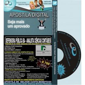 Apostila DEFENSORIA PUBLICA BA - ANALISTA CIÊNCIAS CONTÁBEIS - Teoria + 8.700 Exercícios - Concurso 2014