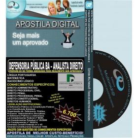 Apostila DEFENSORIA PUBLICA BA - ANALISTA DIREITO - Teoria + 6.700 Exercícios - Concurso 2014