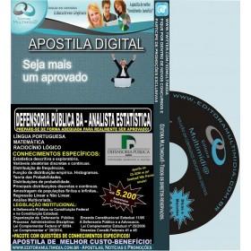 Apostila DEFENSORIA PUBLICA BA - ANALISTA ESTATÍSTICA - Teoria + 5.200 Exercícios - Concurso 2014