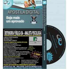 Apostila DEFENSORIA PUBLICA BA - ANALISTA PSICOLOGIA - Teoria + 5.600 Exercícios - Concurso 2014