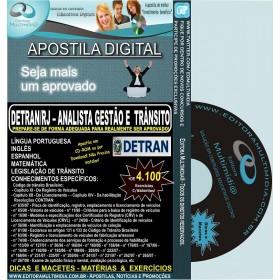 Apostila DETRAN RJ - Analista Gestão e Trânsito - Teoria + 4.100 Exercícios - Concurso 2012
