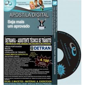 Apostila DETRAN RJ - Assistente TÉCNICO DE TRÂNSITO - Teoria + 4.100 Exercícios - Concurso 2013