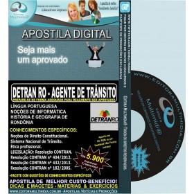 Apostila DETRAN RO - AGENTE de TRÂNSITO - Teoria + 5.900 Exercícios - Concurso 2014