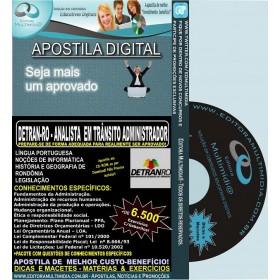 Apostila DETRAN RO - ANALISTA em TRÂNSITO ADMINISTRADOR - Teoria + 6.500 Exercícios - Concurso 2014