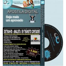 Apostila DETRAN RO - ANALISTA em TRÂNSITO CONTADOR - Teoria + 5.800 Exercícios - Concurso 2014