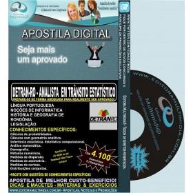 Apostila DETRAN RO - ANALISTA em TRÂNSITO ESTATÍSTICO - Teoria + 4.100 Exercícios - Concurso 2014