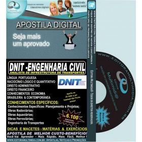 Apostila  DNIT - ENGENHARIA CIVIL - Teoria + 6.100 Exercícios - Concurso 2017