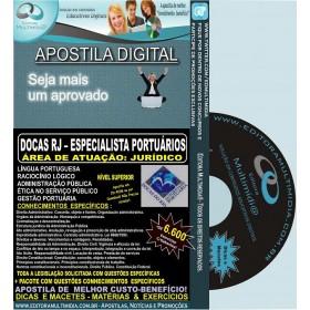 Apostila DOCAS RJ - ESPECIALISTA Portuário - JURÍDICO - Teoria + 6.600 Exercícios - Concurso 2014