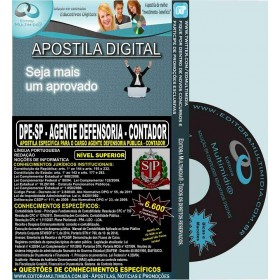 Apostila DPE SP - AGENTE DEFENSORIA - CONTADOR - Teoria + 6.600 Exercícios - Concurso 2015