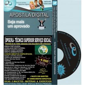 Apostila DPGE RJ - Técnico SUPERIOR SERVIÇO SOCIAL - Teoria + 4.000 Exercícios - Concurso 2014