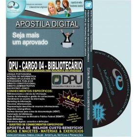 Apostila DPU - CARGO 04 - BIBLIOTECÁRIO - Teoria + 4.600 Exercícios - Concurso 2015