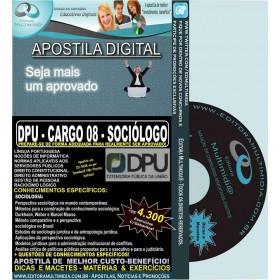 Apostila DPU - CARGO 08 - SOCIÓLOGO - Teoria + 4.300 Exercícios - Concurso 2015