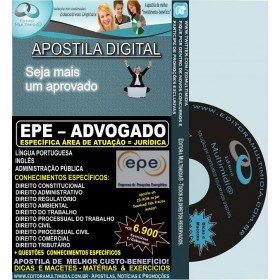 Apostila EPE - ADVOGADO - JURÍDICA - Teoria + 6.900 Exercícios - Concurso 2014