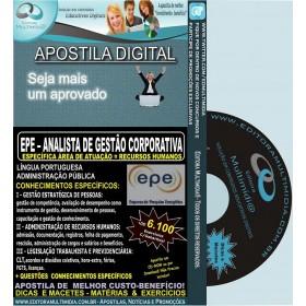 Apostila EPE - Analista de Gestão Corporativa - RECURSOS HUMANOS - Teoria + 6.100 Exercícios - Concurso 2014