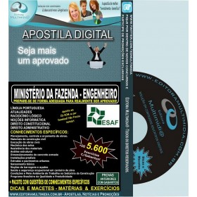 Apostila Min.Fazenda - Analista - Cargo: ENGENHEIRO - Teoria + 5.600 Exercícios - Concurso 2013