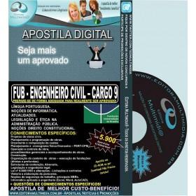 Apostila FUB - ENGENHEIRO CIVIL - CARGO 9 - Teoria + 5.900 Exercícios - Concurso 2015
