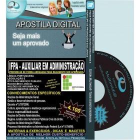 Apostila IFPA - AUXILIAR em ADMINISTRAÇÃO - Teoria + 4.100 Exercícios - Concurso 2016