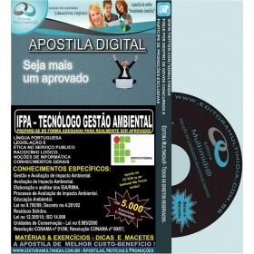 Apostila IFPA - TECNÓLOGO GESTÃO AMBIENTAL - Teoria + 5.000 Exercícios - Concurso 2016