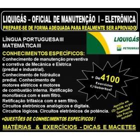 Apostila LIQUIGÁS DISTRIBUIDORA - OFICIAL de MANUTENÇÃO I - ELETRÔNICA  - Teoria + 4.100 Exercícios - Concurso 2018