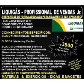 Apostila LIQUIGÁS DISTRIBUIDORA - PROFISSIONAL de VENDAS Jr.  - Teoria + 3.800 Exercícios - Concurso 2018
