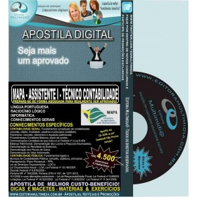 Apostila MAPA - ASSISTENTE I - TÉCNICO de CONTABILIDADE - Teoria + 4.500 Exercícios - Concurso 2015