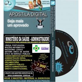 Apostila MINISTÉRIO DA SAÚDE - ADMINISTRADOR - Teoria + 7.900 Exercícios - Concurso 2013 - (cd-rom pelos correios)