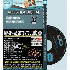 Apostila MP SP - Assistente JURÍDICO - Teoria + 9.800 Exercícios - Concurso 2013