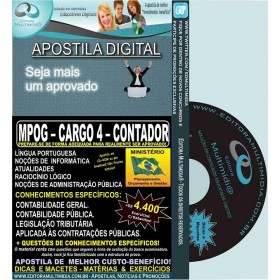 Apostila MPOG - CARGO 4 - CONTADOR - Teoria + 4.400 Exercícios - Concurso 2015