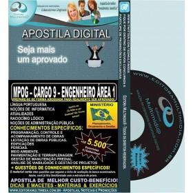 Apostila MPOG - CARGO 9 - ENGENHEIRO - Área 1 - Teoria + 5.500 Exercícios - Concurso 2015