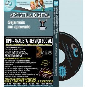 Apostila MPU - Analista SERVIÇO SOCIAL - Teoria + 4.600 Exercícios - Concurso 2013