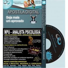 Apostila MPU - Analista PSICOLOGIA - Teoria + 4.900 Exercícios - Concurso 2013