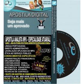 Apostila ANALISTA MPU - Especialidade ATUARIAL -Teoria + 4.800 Exercícios - Concurso 2015