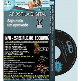 Apostila MPU - Especialidade ECONOMIA - Teoria + 4.700 Exercícios - Concurso 2013