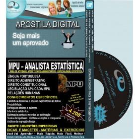 Apostila MPU - Analista ESTATÍSTICA - Teoria + 4.200 Exercícios - Concurso 2013