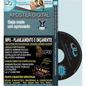 Apostila MPU - PLANEJAMENTO E ORÇAMENTO - Teoria + 4.900 Exercícios - Concurso 2013