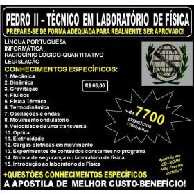 Apostila PEDRO II - TÉCNICO em LABORATÓRIO de FÍSICA - Teoria + 7.700 Exercícios - Concurso 2017