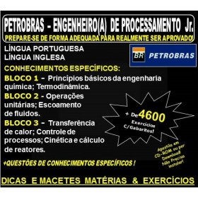 APOSTILA PETROBRAS - ENGENHEIRO(A) de PROCESSAMENTO Jr. - Teoria + 4.600 Exercícios - Concurso 2018