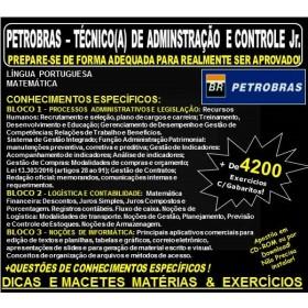 Apostila PETROBRAS - TÉCNICO de ADMINISTRAÇÃO e CONTROLE Jr. - Teoria + 4.200 Exercícios - Concurso 2018