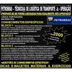 Apostila PETROBRAS - Técnico de Logística de Transporte Jr. - OPERAÇÃO - Teoria + 2.000 Exercícios  - Concurso 2018