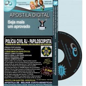 Apostila Polícia Civil RJ - PAPILOSCOPISTA - Teoria + 8.900 Exercícios - Concurso 2014