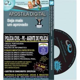 Apostila POLÍCIA CIVIL PE - AGENTE de POLÍCIA - Teoria + 6.400 Exercícios - Concurso 2016