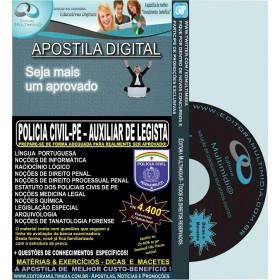 Apostila POLÍCIA CIVIL PE - AUXILIAR de LEGISTA - Teoria + 4.400 Exercícios - Concurso 2016