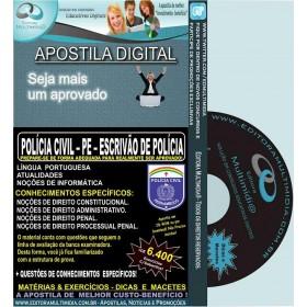 Apostila POLÍCIA CIVIL PE - ESCRIVÃO de POLÍCIA - Teoria + 6.400 Exercícios - Concurso 2016