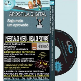 Apostila Prefeitura de Niterói - FISCAL de POSTURAS - Teoria + 6.100 Exercícios - Concurso 2015