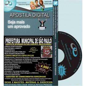 Apostila PREFEITURA SP - Analista de Informação Cultura e Desporte - BIBLIOTECONOMIA - Teoria + 4.800 Exercícios - Concurso 2015