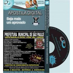 Apostila PREFEITURA SP - Auditor Municipal de Controle Interno - CORREIÇÃO - Teoria + 7.800 Exercícios - Concurso 2015