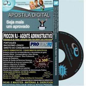 Apostila PROCON RJ 2012 - Agente Administrativo - Teoria + 2.300 Exercícios
